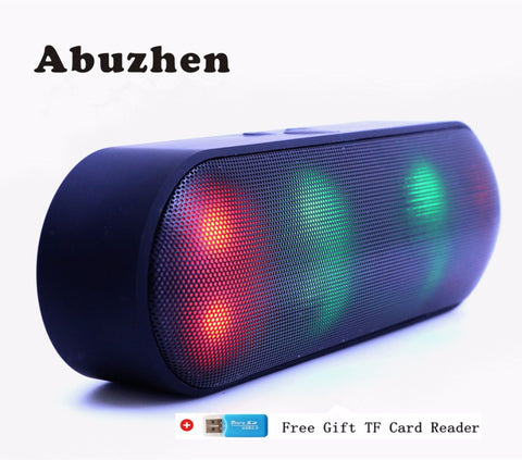 Abuzhen LED Portable Wireless Bluetooth Speaker