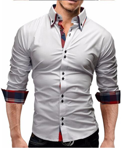 Men'S Slim Fit Long Sleeves Dress Shirt ( yuqidong )
