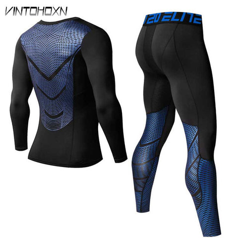 Men Winter Quick Dry Compression Thermal Long Johns