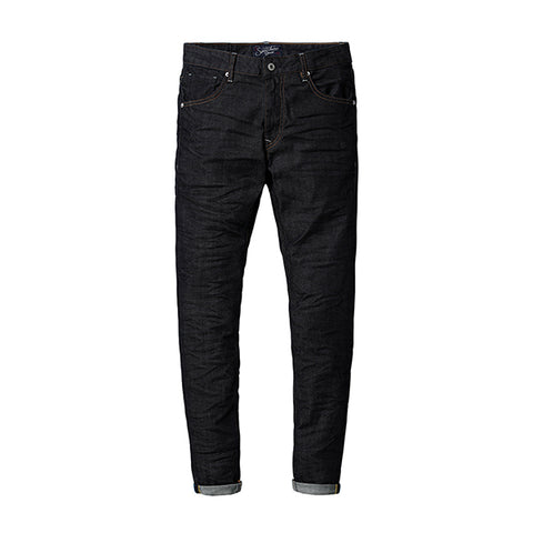 SIMWOOD High Quality Cotton Slim Fit Zipper Denim