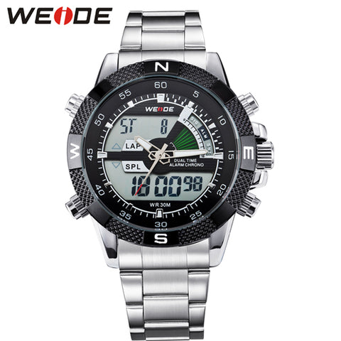 WEIDE Men's Full Steel Quartz Analog Watch