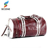 PU Leather Training Fitness Shoulder Bag With Shoes Pocket