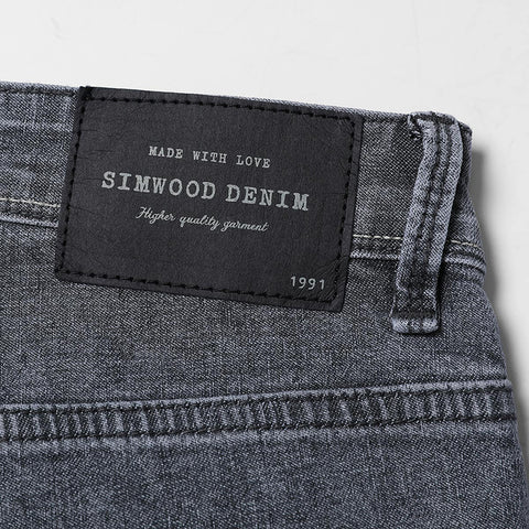 SIMWOOD High Quality gray Fashion Jeans for Men