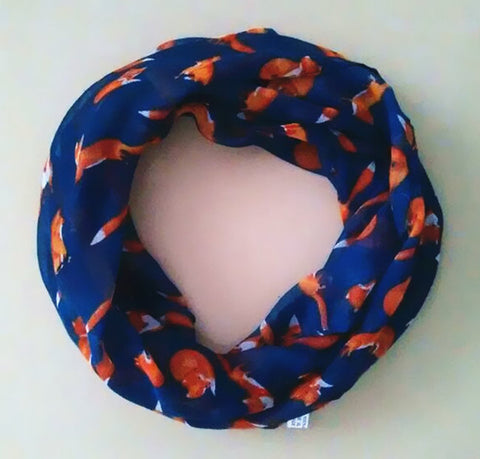 new fashion  fox print  baby scarf
