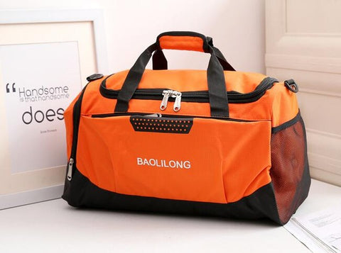 Professional Waterproof Large Sports Gym Bag With Shoes Pocket