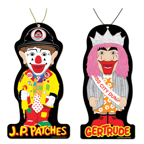 J.P. Patches and Gertrude Air Fresheners