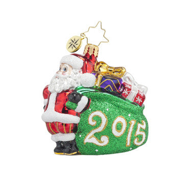 Radko 2015 DATED Little Gems Jolly Year Santa Ornament