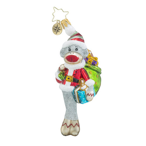 Radko My Favorite Sock Monkey Ornament New 2016 Little Gem
