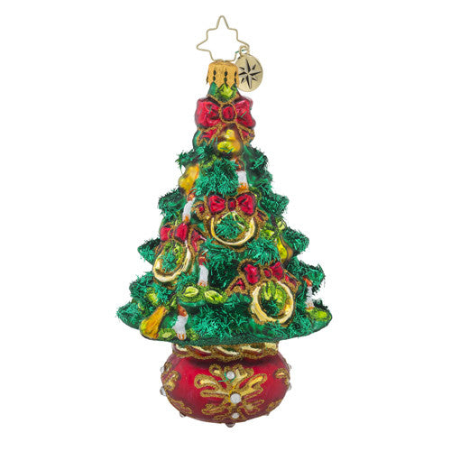Radko 12 Days Tree series #5 Five Golden Rings Christmas Ornament