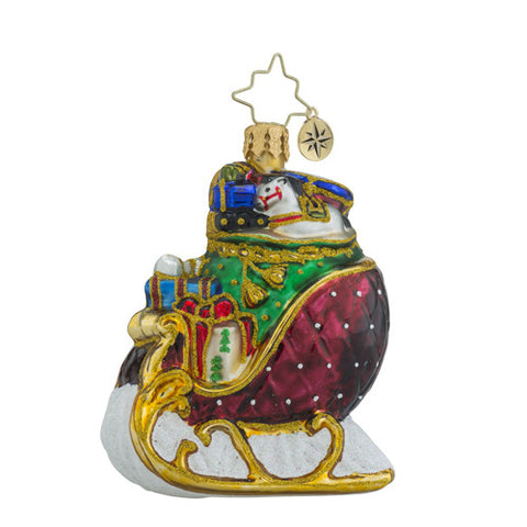 Radko Little Gem Ruby Sleigh Ride Ornament New