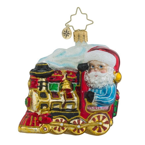 Radko Little Gem North Pole Express Train Ornament