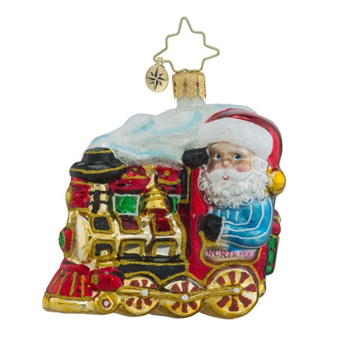 Radko Little Gem North Pole Express Train Ornament NEW