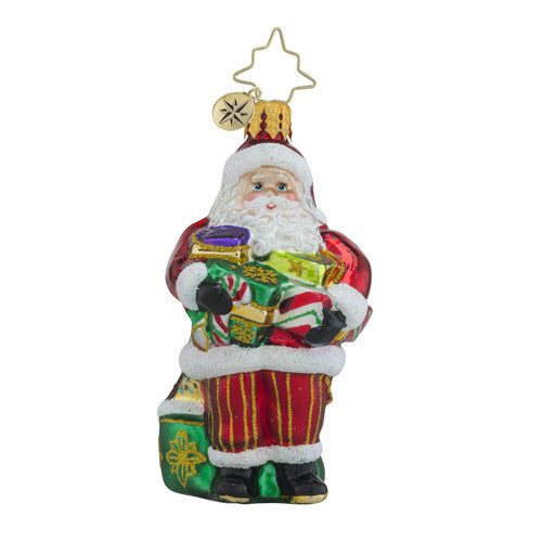 Christopher Radko Arms Full of Joy Santa Gem Ornament