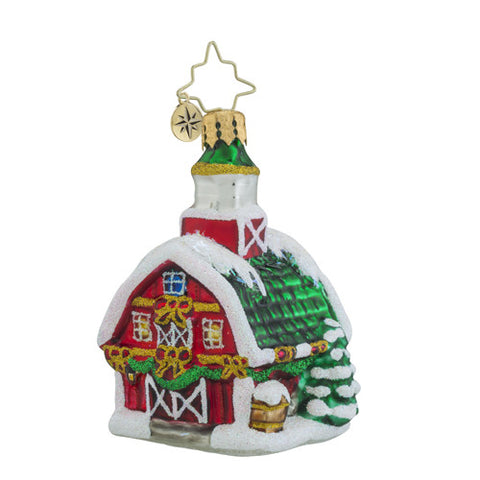 Radko Little Gem Country Christmas BARN Ornament New