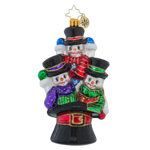 Christopher Radko North Pole Trio Snowman Friends Ornament