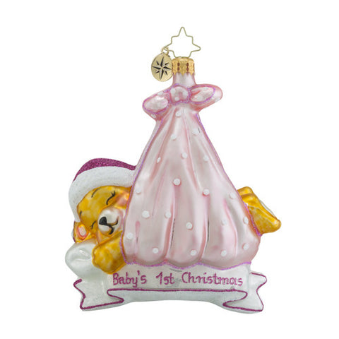 Radko Baby Special Delivery Girl Ornament