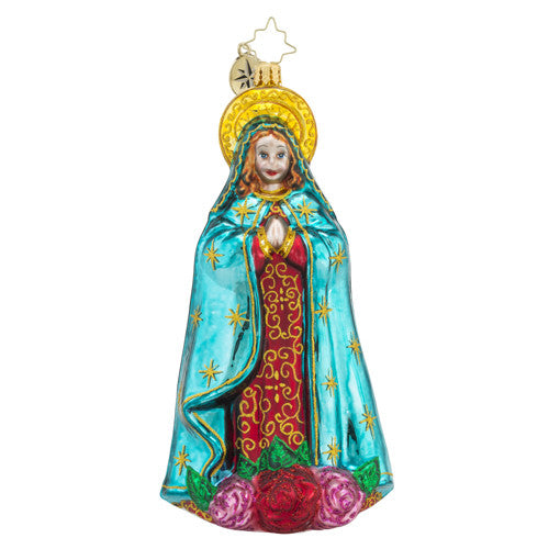Christopher Radko Holy Beauty Mother Mary Ornament