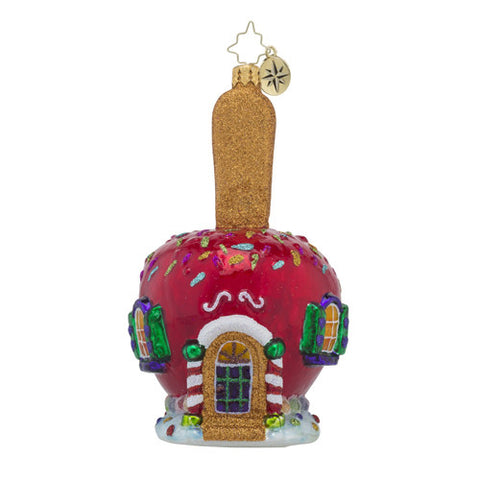 Radko Candy Coated Christmas Apple House Ornament New 2016