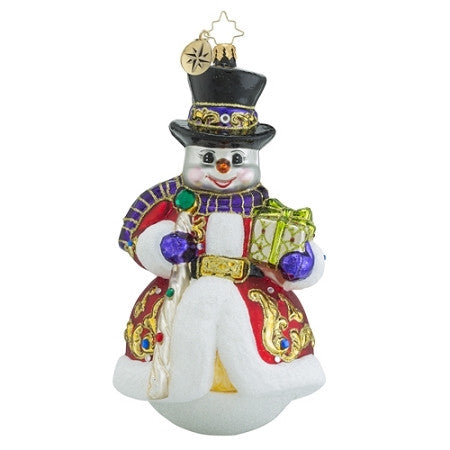 Radko Sir Scarlet Snow Snowman Limited Edition Ornament