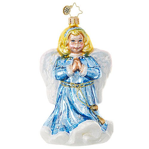 Christopher Radko BLUE ANGEL Girl Christmas Ornament SALE