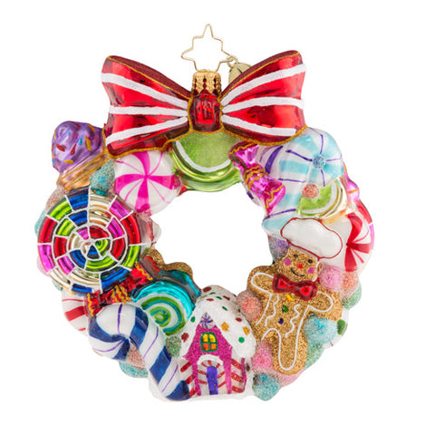 Christopher Radko Sweetest Swirl Candy Wreath Ornament