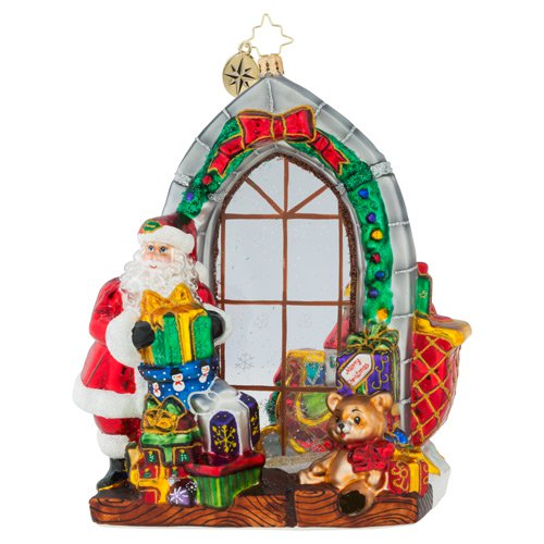 Christopher Radko Jolly Inside And Out Santa Ornament