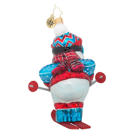 Christopher Radko Swish! Snow Skier Ornament