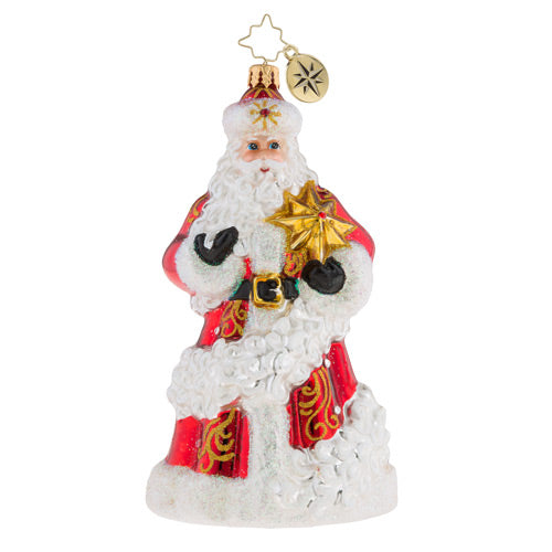 Christopher Radko Reach For The Stars Santa Ornament