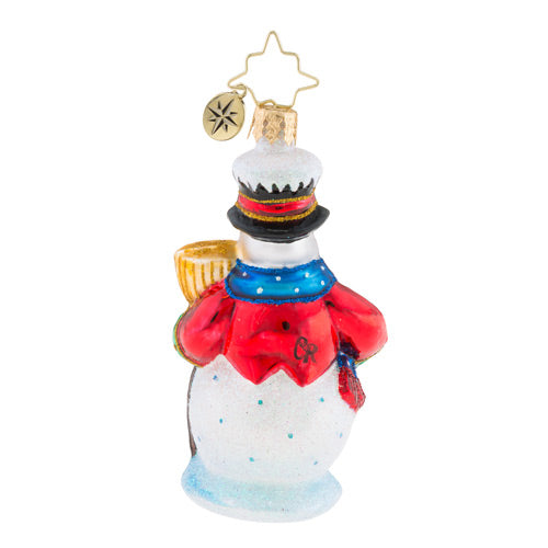 Christopher Radko Dickensian Snowman Little Gem Ornament