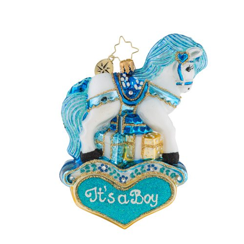 Christopher Radko Baby Pastel Prince Pony It's a Boy Ornament
