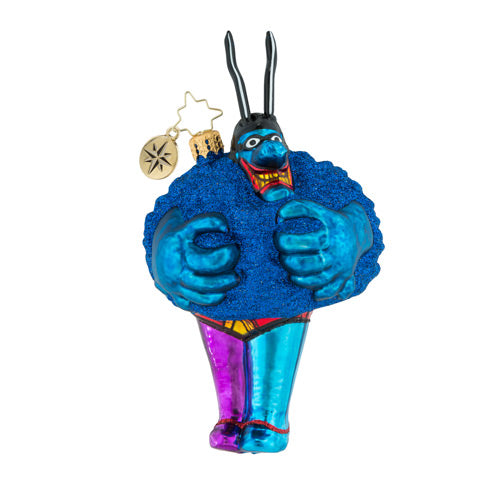 Christopher Radko the Beatles Merry Blue Meanie Ornament