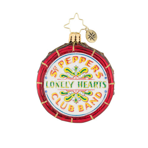 Christopher Radko the Beatles Drum Roll, Please! Gem Ornament