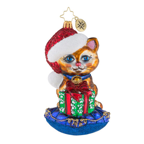 Christopher Radko A Little Coy, Kitty! Cat Ornament New