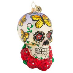 Christopher Radko A Head For Details Skull Ornament (PRE-ORDER)
