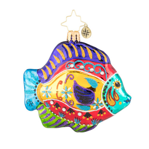Christopher Radko Fabulously Fishy Gem Ornament