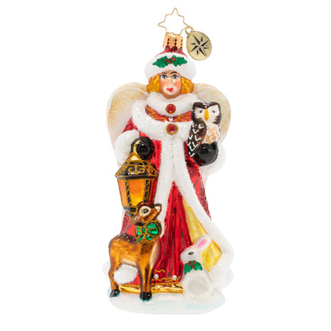 Christopher Radko Snow Angel Guide Owl Deer Forest Ornament
