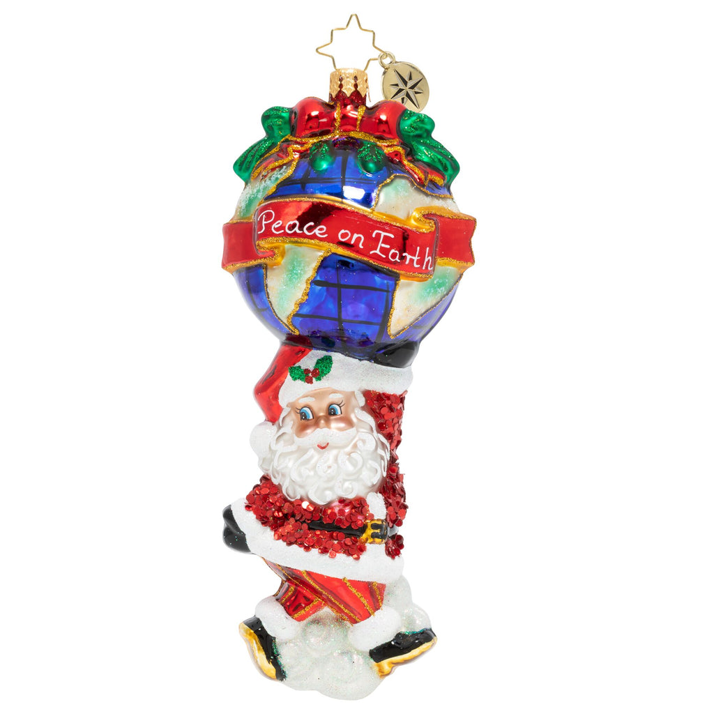 Christopher Radko A World Of Peace Santa Ornament 2020