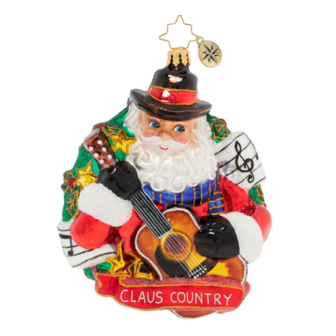 Christopher Radko Country Crooner Santa Cowboy Ornament