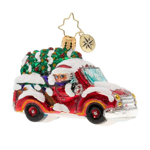 Christopher Radko Christmas Tree Delivery Truck Gem Ornament