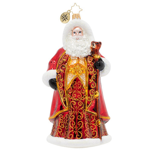 Christopher Radko Crimson-Clad Santa Long Robe Ornament
