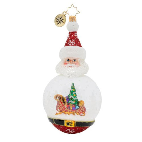 Christopher Radko Santa's Snowy Dome Ornament