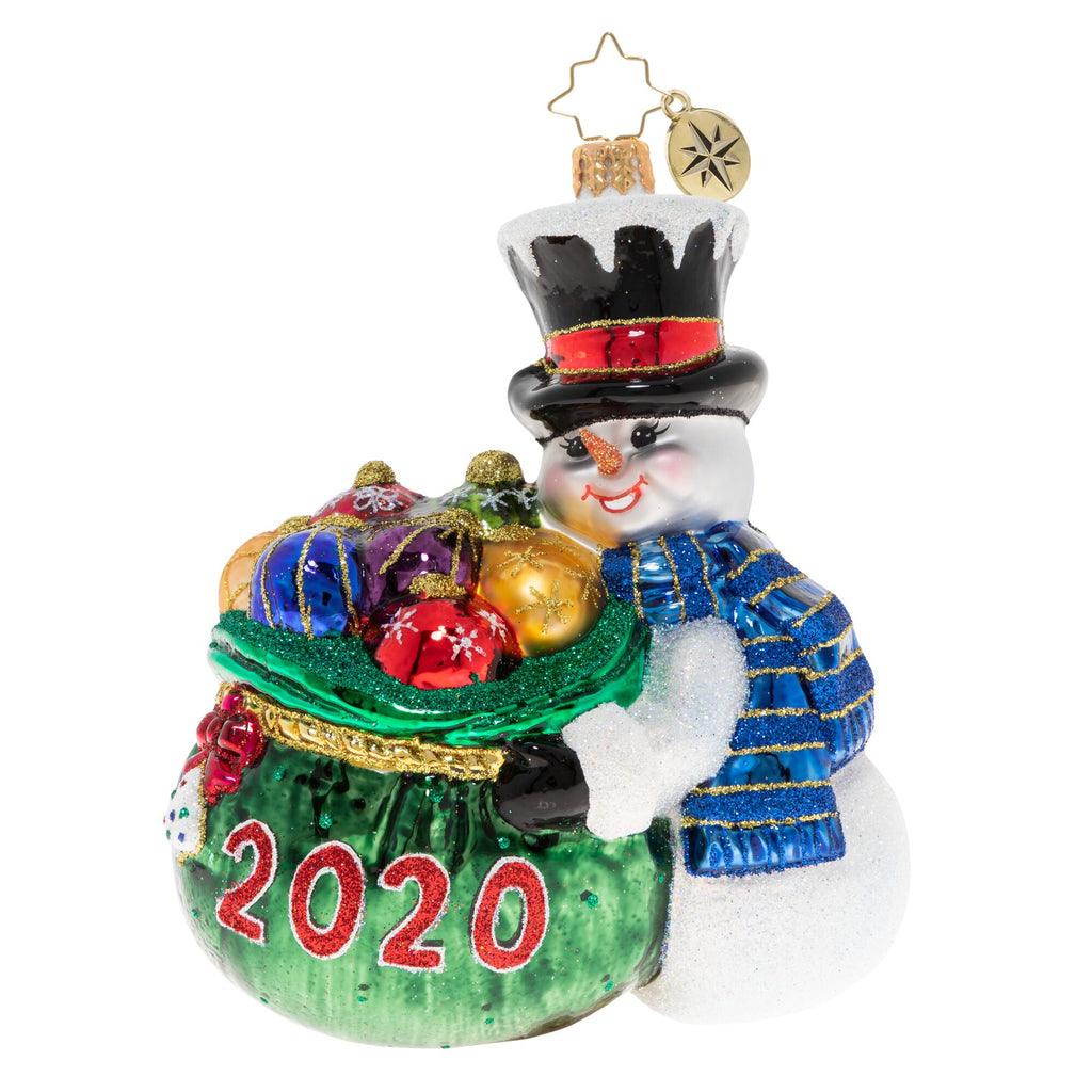 Christopher Radko 2020 Dated One Proud Collector Snowman Ornament