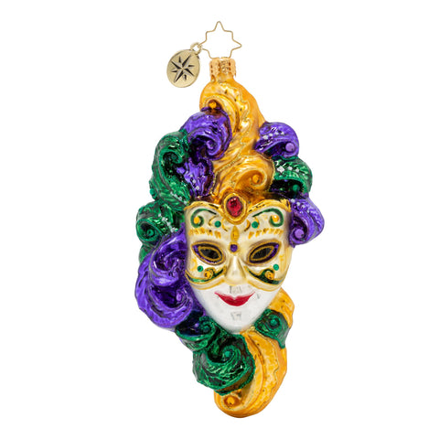 Christopher Radko Mardi Gras Masquerade Mask Ornament