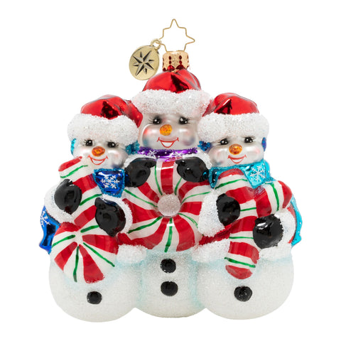 Christopher Radko A Joy To Behold J-O-Y Snowman Ornament