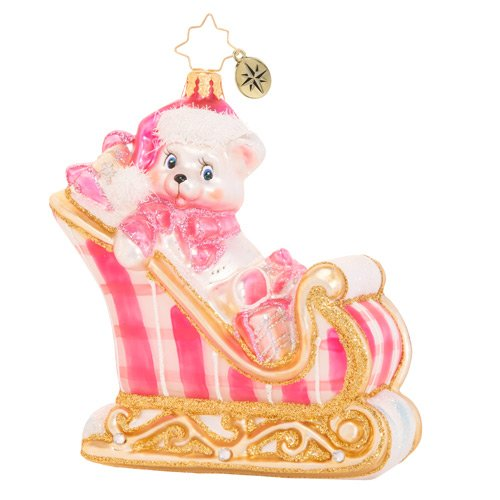 Christopher Radko Baby A Beary Good Girl Sleigh Ornament