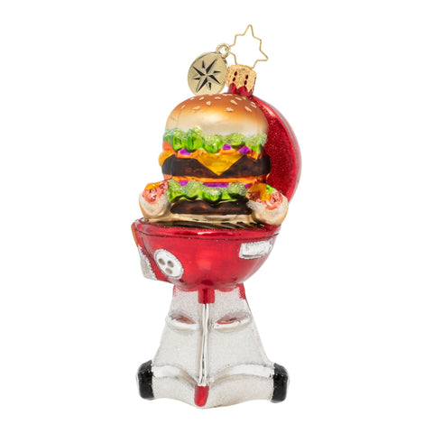 Christopher Radko Chillin' & Grillin' Hamburger BBQ Ornament