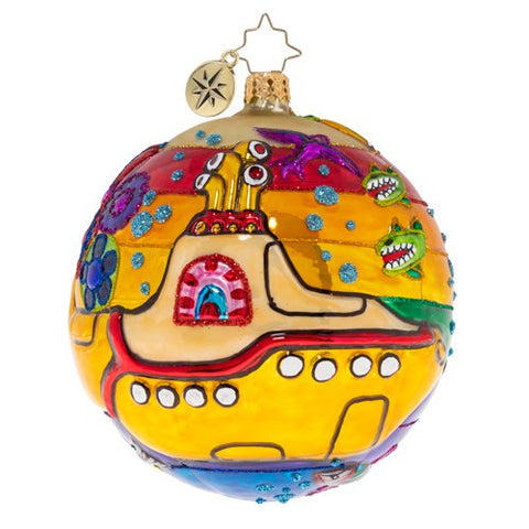 Christopher Radko Beatles Land of Submarines Ornament