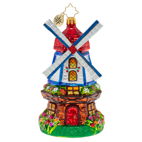 Christopher Radko Catching A Breeze Windmill Holland Dutch ornament