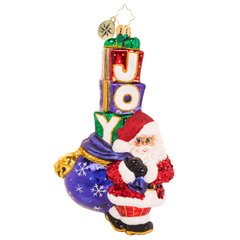 Christopher Radko Joyous Saint Nick Santa Ornament