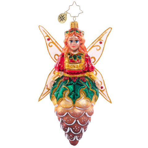 Christopher Radko A Divine Pine Guardian Pixie Fairy Ornament